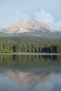 Lassen Peak over Manzanita Lake