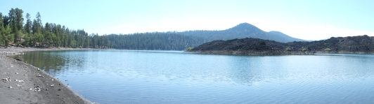 Cinder Cone and Butte Lake (panorama)